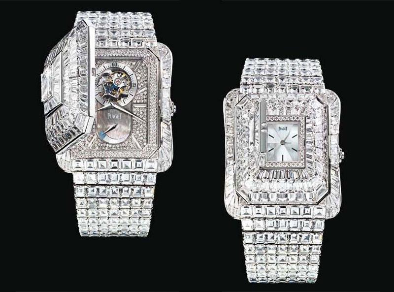 Đồng hồ cu đính kim cương
