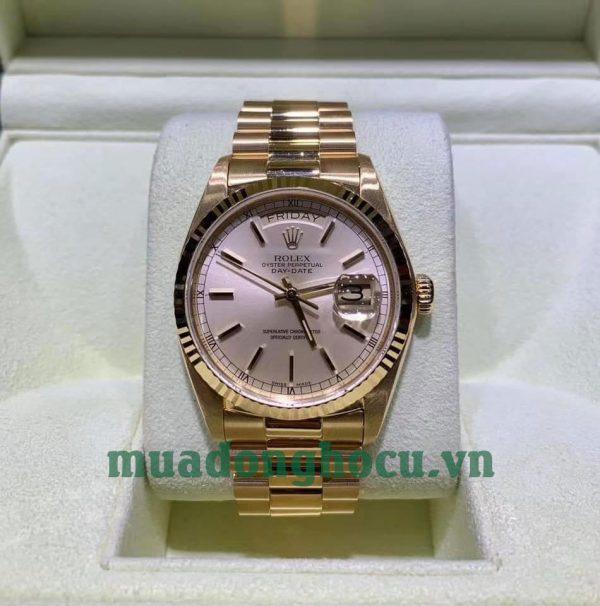 Đồng Hồ Nam Rolex 18038 Day-Date 36MM Vàng 18K