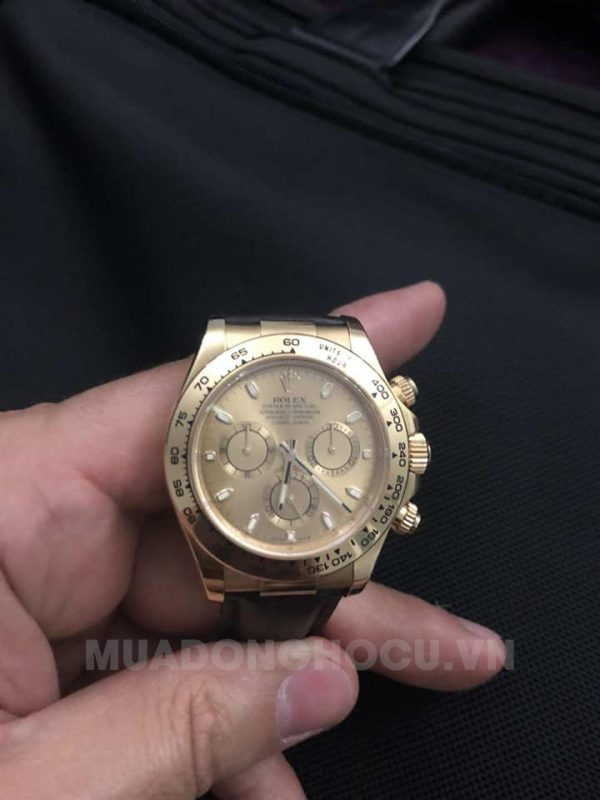 Đồng hồ Rolex Daytona 116518LN Champagne Dial on Strap