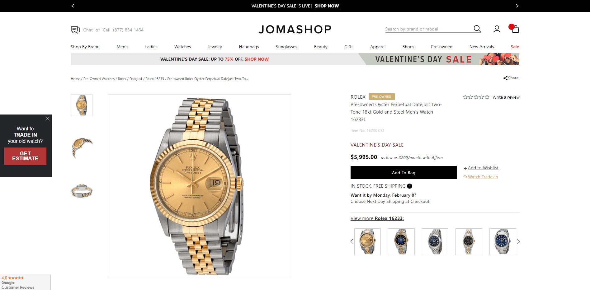Jomashop là gì? Mua đồng hồ trên Jomashop có uy tín không?