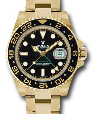 Đồng Hồ Rolex 116718 bk GMT-Master II Yellow Gold