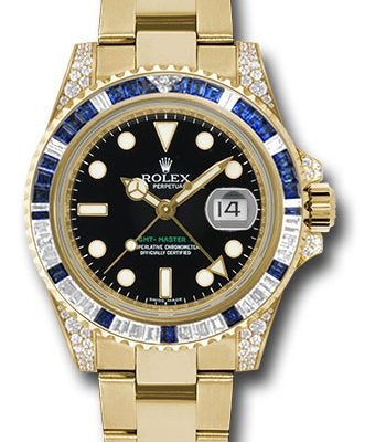 Đồng Hồ Rolex 116758SA GMT-Master II Yellow Gold
