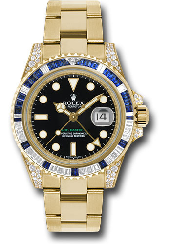 Đồng Hồ Rolex 116758SA GMT-Master II Yellow Gold