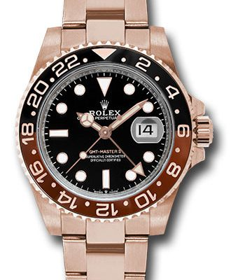 Đồng Hồ Rolex 126715CHNR bk GMT-Master II Everose Gold Watch
