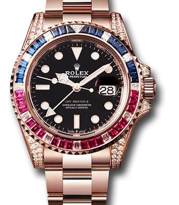 Đồng Hồ Rolex 126755SARU bk GMT-Master II Everose Gold