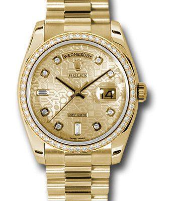 Đồng Hồ Rolex 118348 chjdp Day-Date 36 Yellow Gold - 52 Dia Bezel - President