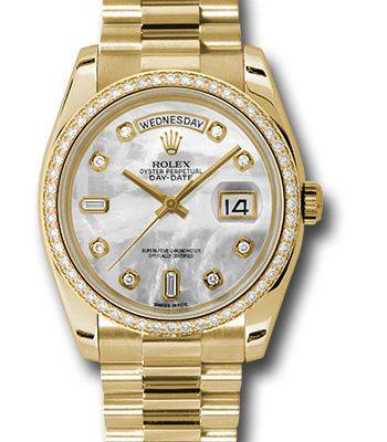 Đồng Hồ Rolex 118348 mdp Day-Date 36 Yellow Gold - 52 Dia Bezel - President