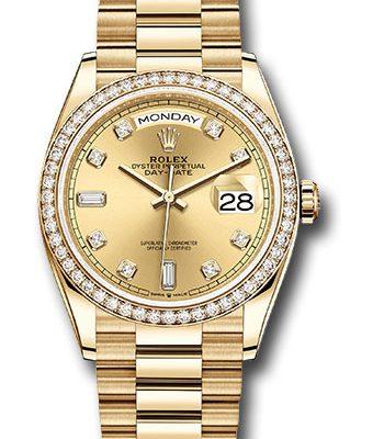 Đồng Hồ Rolex 128348RBR chdp Day-Date 36 Yellow Gold - 52 Dia Bezel - President