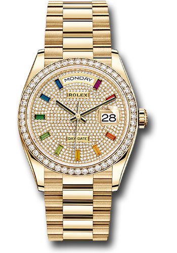 Đồng Hồ Rolex 128348RBR dprsp Day-Date 36 Yellow Gold - 52 Dia Bezel - President