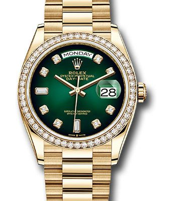 Đồng Hồ Rolex 128348RBR godp Day-Date 36 Yellow Gold - 52 Dia Bezel - President