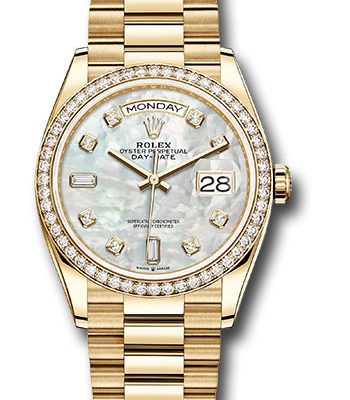 Đồng Hồ Rolex 128348RBR mdp Day-Date 36 Yellow Gold - 52 Dia Bezel - President