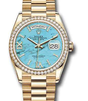 Đồng Hồ Rolex 128348RBR tdidrp Day-Date 36 Yellow Gold - 52 Dia Bezel - President