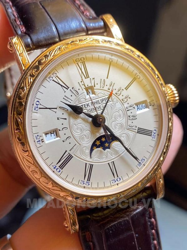Patek Philippe 5160R Automatic Officer's Engraved Perpetual Calendar