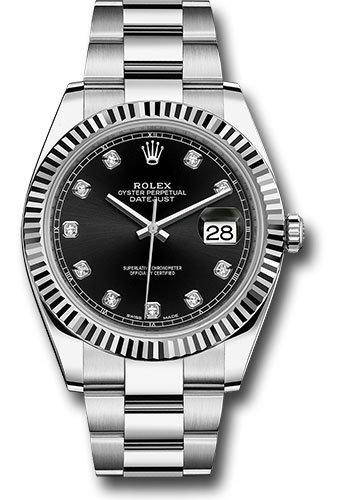 Đồng Hồ Rolex 126334 bkdo Datejust 41 Steel and White Gold - Fluted Bezel - Oyster