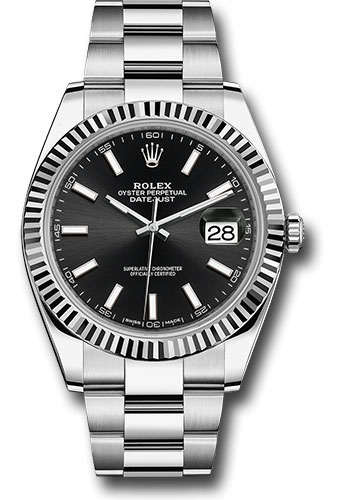 Đồng Hồ Rolex 126334 bkio Datejust 41 Steel and White Gold - Fluted Bezel - Oyster