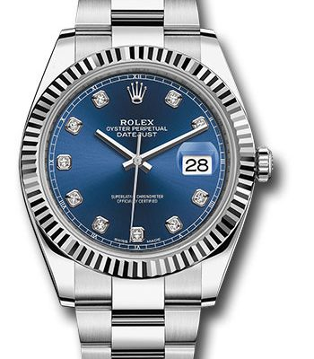 Đồng Hồ Rolex 126334 bldo Datejust 41 Steel and White Gold - Fluted Bezel - Oyster