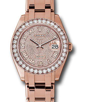 Đồng Hồ Rolex 86285 dpr Datejust Pearlmaster 39 Everose Gold