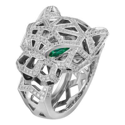 Nhẫn Cartier Panthère CRN4768000 White gold, onyx, emeralds, diamonds
