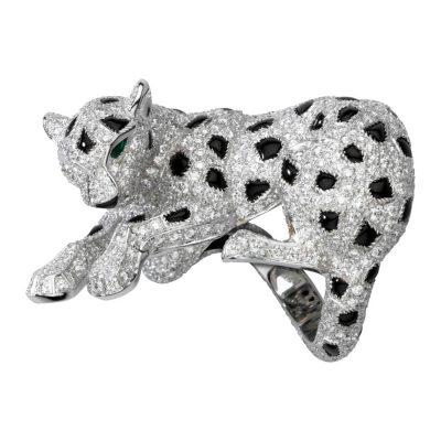 Nhẫn Panthère de Cartier CRH4226300 Platinum, emeralds, onyx, diamonds